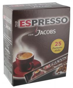 Jacobs Espresso Portions-Sticks  (25 x 1,80 g) - 7622210020055