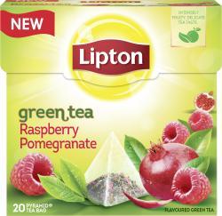Lipton Green Tea Raspberry Pomegranate Pyramidenbeutel  (28 g) - 8712100620676