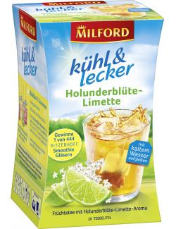 Milford k�hl & lecker Holunderbl�te-Limette  (20 x 2,50 g) - 4002221028111