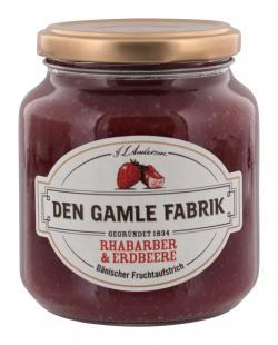 Den Gamle Fabrik Rhabarber&Erdbeere Fruchtaufstrich  (400 g) - 5701211012404