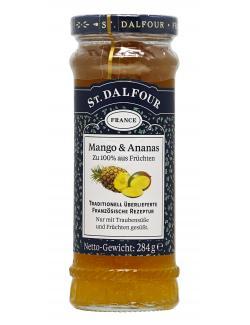 St. Dalfour Fruchtaufstrich Mango & Ananas  (284 g) - 3492390001014