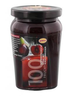 G�bber 100 Frucht Schwarzkirsch-Birne mit Kirschwasser  (310 g) - 4054600751141