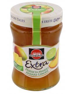 Schwartau Extra Pfirsich-Mango-Ananas-Limone  (340 g) - 4011800148317