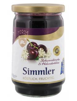 Simmler Schwarzkirsche und Holunderblüte Fruchtaufstrich  (450 g) - 4008191024108