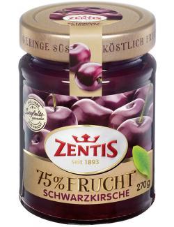 Zentis 75% Frucht Schwarzkirsche  (270 g) - 4002575514773