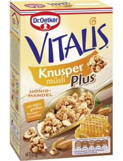 Dr. Oetker Vitalis Knusper Plus Honig-Mandel M�sli  (450 g) - 4000521004583