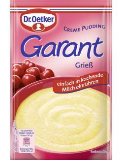 Dr. Oetker Garant Creme Pudding Grieß  - 4000521255008
