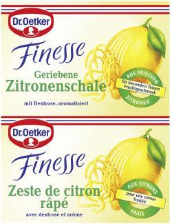 Dr. Oetker Finesse Geriebene Zitronenschale  (12 g) - 4000521146313