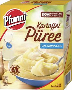 Pfanni Kartoffel P�ree mit entrahmter Milch komplett  (3 x 3 por) - 4000400130693