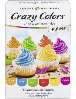 Heitmann Lebensmittelfarbe Crazy Colors  (6 x 4 g) - 4052400021204
