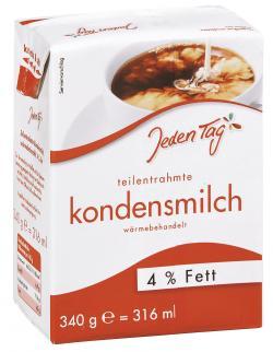 Jeden Tag Kondensmilch 4%  (340 g) - 4306188724308