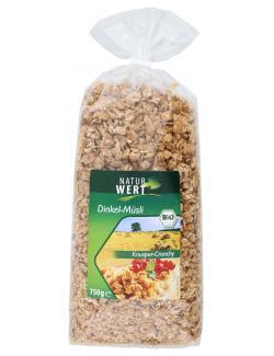 NaturWert Bio Dinkel-M�sli Knusper-Crunchy  (750 g) - 4000446037550