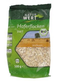 NaturWert Bio Vollkorn Haferflocken zart  (500 g) - 4000950670083