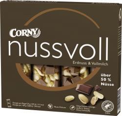 Corny Nussvoll Erdnuss & Vollmilch  (4 x 24 g) - 4011800545819