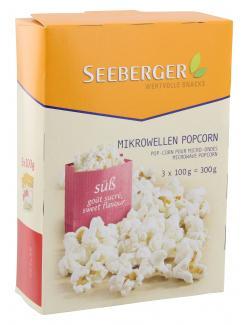 Seeberger Mikrowellen Popcorn süß  (3 x 100 g) - 4008258526019
