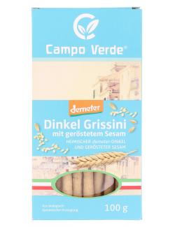Demeter Campo Verde Dinkel Grissini mit ger�stetem Sesam  (100 g) - 4045178003183
