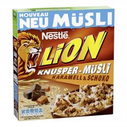 Nestle Lion Knusper-Müsli Karamell & Schoko  (350 g) - 7613035149687