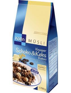 Kölln Müsli Knusper Schoko & Keks Kakao  (1,70 kg) - 4000540003239