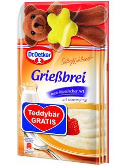Dr. Oetker Süße Mahlzeit Grießbrei klassisch Teddybär gratis  (276 g) - 4000521016777