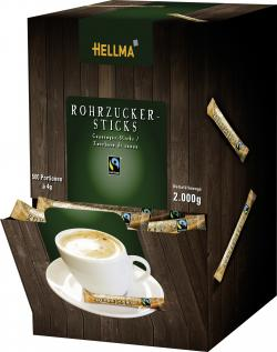 Hellma Rohrzucker-Sticks  (500 x 4 g) - 4003148676157