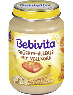 Bebivita Früchte-Allerlei mit Vollkorn  (190 g) - 4018852102014