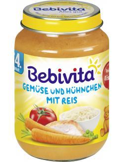 Bebivita Gem�se und H�hnchen mit Reis  (190 g) - 4018852103219