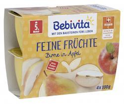 Bebivita Feine Früchte Birne in Apfel  (4 x 100 g) - 4018852008521