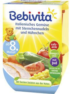Bebivita Italienisches Gem�se mit Sternchennudeln und H�hnchen  (2 x 220 g) - 4018852009863