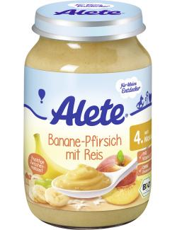 Alete Banane & Pfirsich mit Reis  (190 g) - 4005500036555