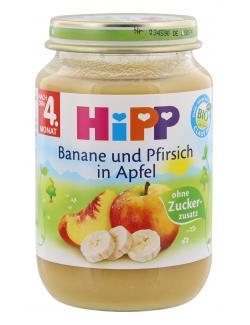 Hipp Banane und Pfirsch in Apfel  (190 g) - 4062300026919