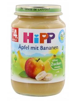Hipp �pfel mit Bananen  (190 g) - 4062300027305