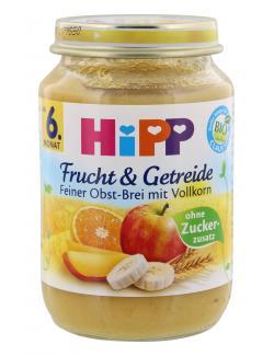 Hipp Frucht & Getreide Feiner Obst-Brei mit Vollkorn  (190 g) - 4062300034211