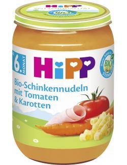 Hipp Bio Schinkennudeln mit Tomate und Karotten  (190 g) - 4062300024816