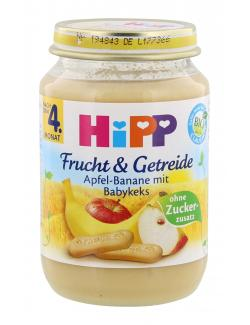 Hipp Frucht & Getreide Apfel-Banane mit Babykeks  (190 g) - 4062300035416