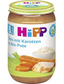 Hipp Reis mit Karotten & Bio Pute  (220 g) - 4062300033115