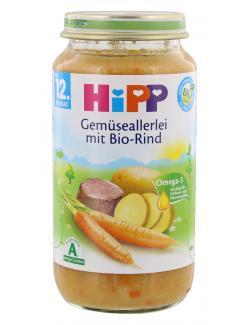 Hipp Gem�seallerlei mit Bio-Rind  (250 g) - 4062300037311