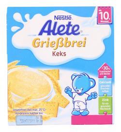 Alete Grie�brei Keks  (4 x 100 g) - 4005500016588