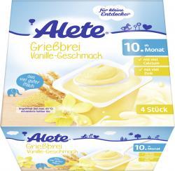 Alete Grie�brei Vanille  (4 x 100 g) - 4005500071631
