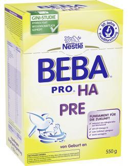 Nestl� Beba HA hypoallergene Anfangsnahrung PRE  (550 g) - 7613030590118