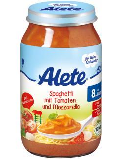 Alete Spaghetti mit Tomaten und Mozzarella  (220 g) - 4251099600640