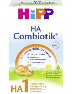 Hipp HA 1 Combiotik hypoallergene Anfangsnahrung  (500 g) - 4062300119666