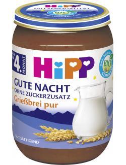 Hipp Gute Nacht Grie�brei pur  (190 g) - 4062300123175