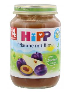 Hipp Pflaume mit Birne  (190 g) - 4062300142695