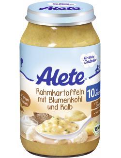 Alete Rahmkartoffeln mit Blumenkohl und Kalb  (220 g) - 4251099600831