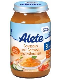 Alete Couscous mit Gemüse & Hühnchen  (220 g) - 4251099600664