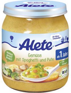 Alete Gemüse mit Spaghetti & Pute  (250 g) - 4251099601586