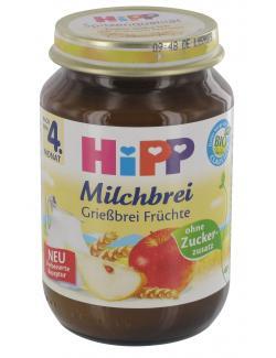 Hipp Milchbrei Grießbrei Früchte  (190 g) - 4062300220713