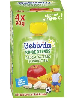 Bebivita Kinder Spa� Fr�chte-Trio & Karotte plus ACE  (4 x 90 g) - 4018852016830