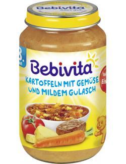 Bebivita Kartoffeln mit Gemüse und mildem Gulasch  (220 g) - 4018852017486