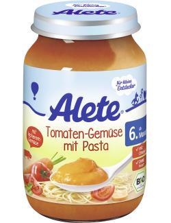 Alete Tomaten-Gem�se mit Pasta  (190 g) - 4251099600626